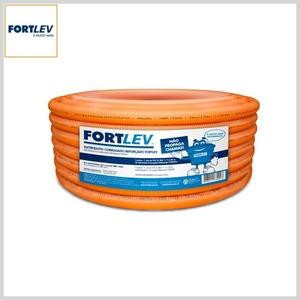 Eletroduto Flexível Corrugado PVC Antichama Laranja Reforçado
